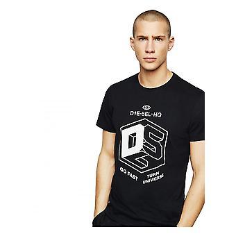 Diesel T-Diego-a3 camiseta negra