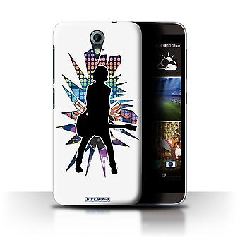 STUFF4 Case/Cover for HTC Desire 820 Mini/Emotion White/Rock Star Pose