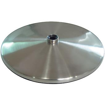 Slimline Table Lamp Base Brushed Steel U52107
