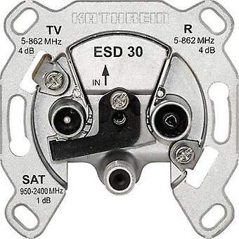 Antenna socket SAT, TV, FM Kathrein ESD 30 Flush mount