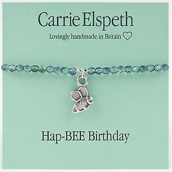Carrie Elspeth HapBee fødselsdag Sentiment Stretch armbånd