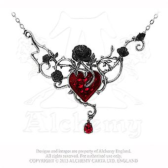 Alchemy Gothic Bed Of Blood Roses Pendant