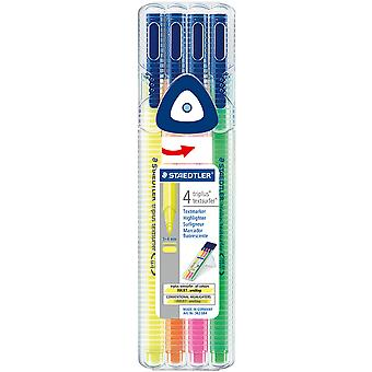 Triplus Textsurfer Highlighters 4/Pkg-Assorted  362SB4