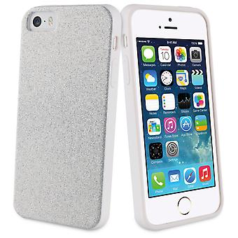 Muvit Silver glitter bling tpu Case iphone 5s