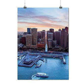 Matte or Glossy Poster with Photo Fashion Dawn City San Francisco | Wellcoda | *q1250