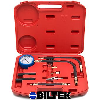 Biltek® 0-100 PSI Fuel Injection Pump Injector Tester Test Pressure Gauge Gasoline Cars