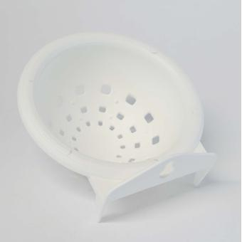 Quiko Canary Plastic Nest Pan White Large (Pack of 12)