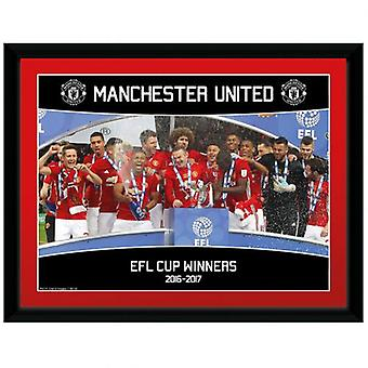 Manchester United Picture EFL Cup Winners 16 x 12