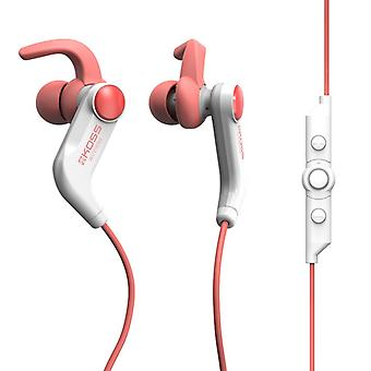KOSS Headphone BT190i Earbud Mic Coral Red