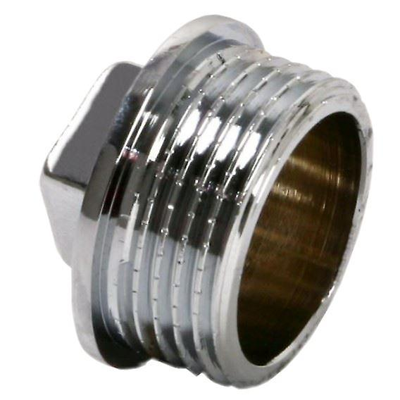 Pipe Tube Fittings Chrome Plug Stop End Cap Cover Ending Male 3/8
