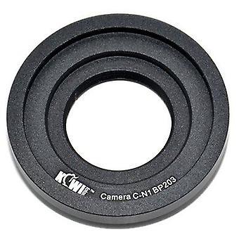 Adaptador de montaje de la lente Kiwifotos: Permite lentes de montaje C (cámaras de película de 16mm, cámaras de CCTV, phototubes de microscopio trinocular) ser utilizado en cualquier cámara de la serie Nikon 1 (J1, J2, J3, S1, V1, V2)