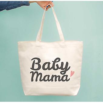 Baby Mama ble lærred taske søde købmand Book store tasker gaver til nye Moms