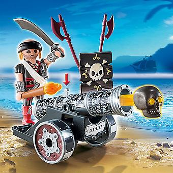 Playmobil pirater interaktiva kanon med pirat kapten svart