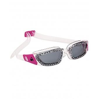 Aqua Sphere Kameleon Ladies Swim Google-Smoke Lens-Clear/Pink