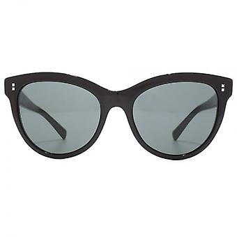 Valentino Stud Pin Detail Cateye Sunglasses In Black