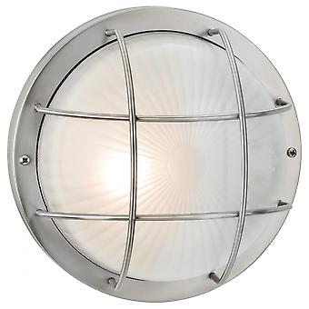 Firstlight Vintage Stainless Steel Outdoor Open Cage Wall Light