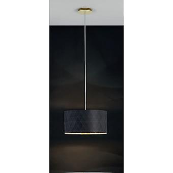 Eglo DOLORITA Dark Drum Ceiling Light Pendant