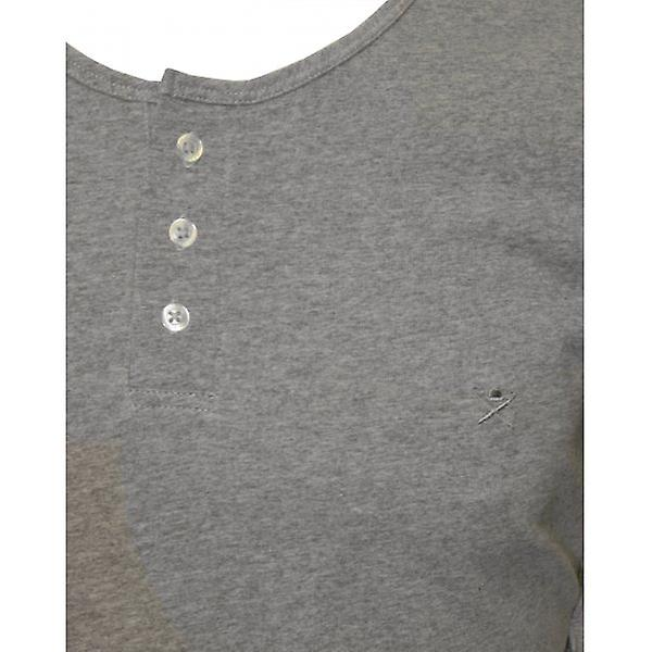 Hackett Henley Long-Sleeve T-Shirt, Grey