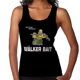 Walker agn Walking Dead Rick og Carl Grimes Homer og Bart Simpson Kvinders Vest