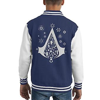 Christmas Tree Assassins Creed Kid's Varsity Jacket