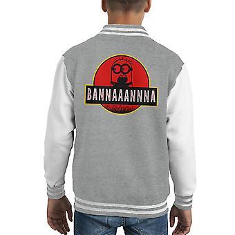Minions Jurassic Park Banana Kid's Varsity Jacket