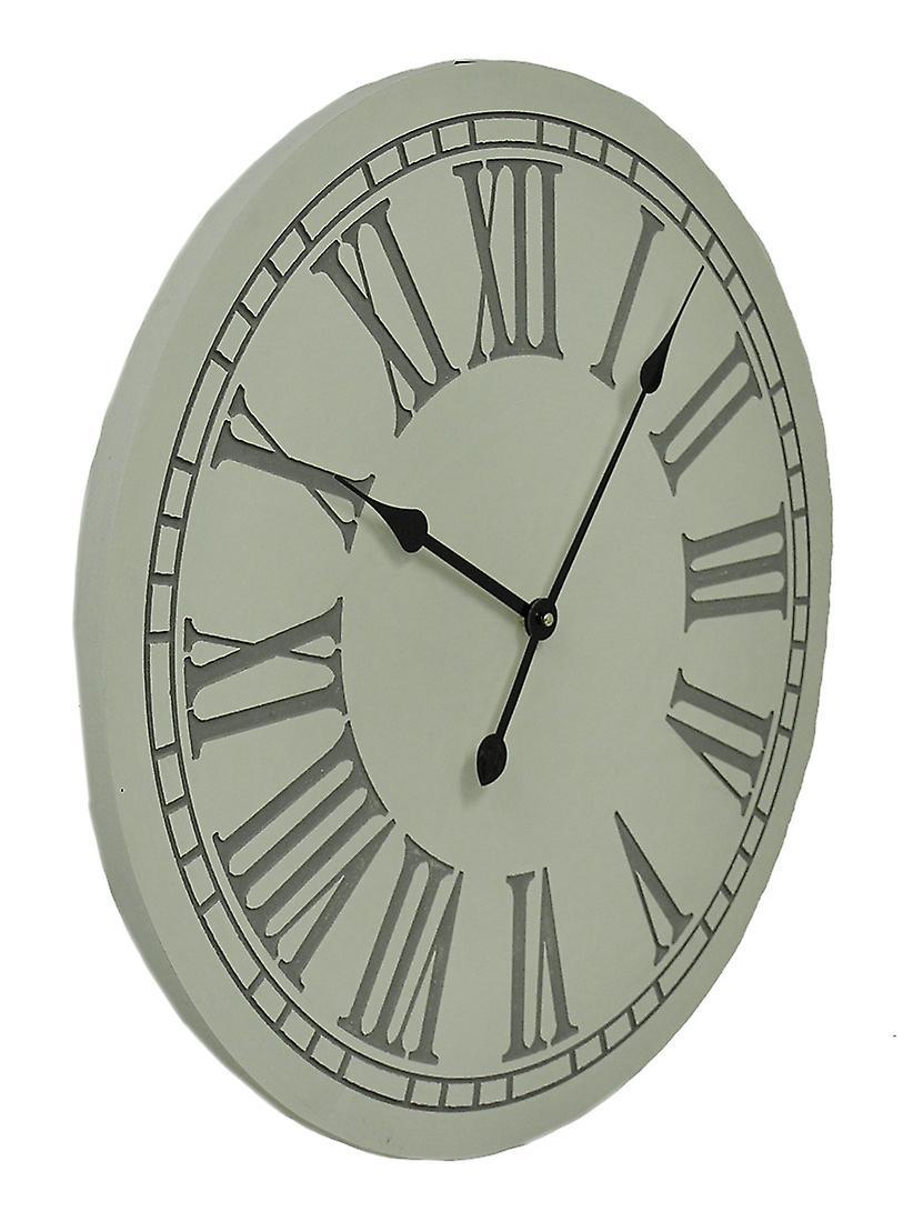 Horloge Grande Murale Pouces Chiffres Ronde Romains 23 Élégant À 3Lq54RAj