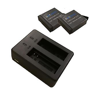 Dot.Foto Battery (2-Pack) and Dual Charger for SJCAM SJ7 STAR