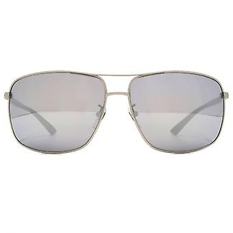 Sonnenbrillen Gucci Classic Metal Square In Ruthenium-Havanna