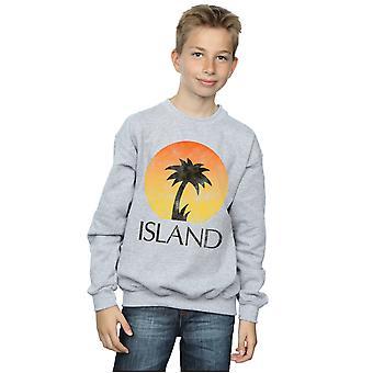 Island Records Boys Distressed Logo Sweatshirt