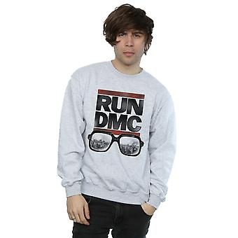 Run DMC mænds Logo briller Sweatshirt