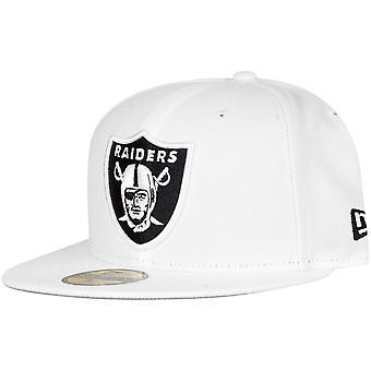 Ny æra 59Fifty Cap - NFL på feltet Oakland Raiders hvit