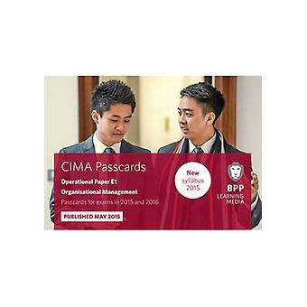 CIMA E1 Organisational Management 9781472734303 by BPP Learning Media