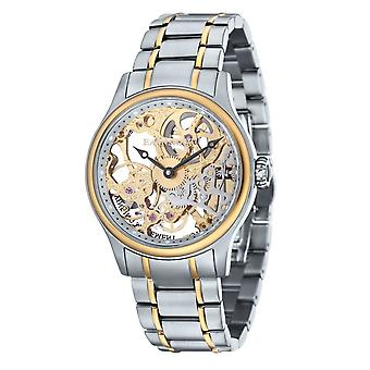 Thomas Earnshaw Es-8049-22 Bauer Two Tone Stainless Steel Mechanical Skeleton Men's Watch