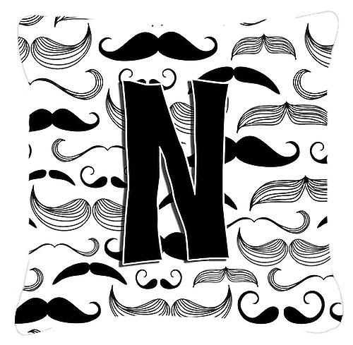Tissu Moustache N Initiale Lettre Décoratif Toile Oreiller zVUpSLqGM