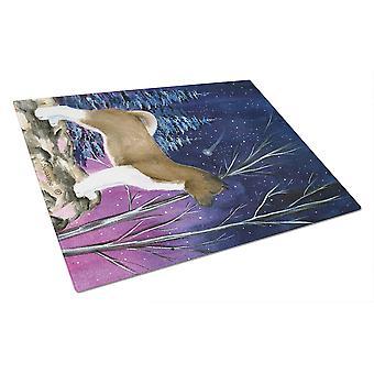 Каролинских сокровища SS8352LCB Звездная ночь Акита Стеклянная Разделочная доска большой