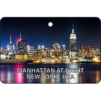 Manhattan At Night - New York - USA Car Air Freshener