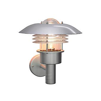 Elstead Malmo MA1 Painted Silver 1 Light Wall Light IP43