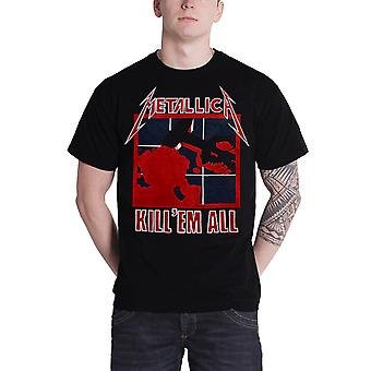 Metallica T Shirt dræbe Em alle Album Cover Band Logo officielle Herre nye sort