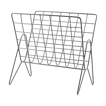 House Doctor Magazine Rack News Grey Metal
