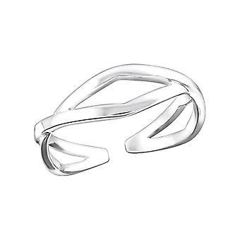 Cross - 925 Sterling Silver Toe Rings - W20688x