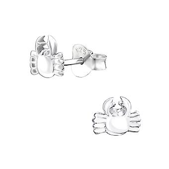 Crab - 925 Sterling Silver Plain Ear Studs