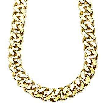 18 K Gold Plated XL Miami Cuban Kette 18 mm x 38 Zoll 500g FILLED