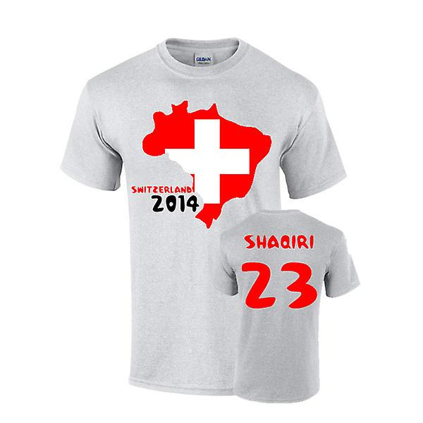 Schweiz 2014 Country Flag-T-Shirt (Shaqiri 23)