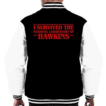 I Survived The National Laboratory Of Hawkins Men's Varsity Jacket