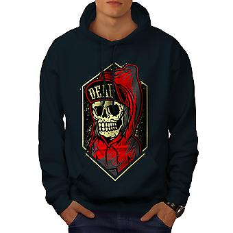 Death Gangster Men NavyHoodie | Wellcoda