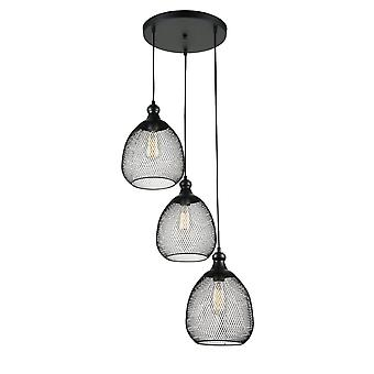 Maytoni Lighting Grille LOFT Collection Pendant, Black