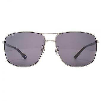 Gucci Classic Metal Square Sunglasses In Ruthenium Black