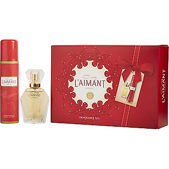 L'Aimant By Coty Parfum De Toilette Spray 1 Oz & Deodorant Spray 2.5 Oz