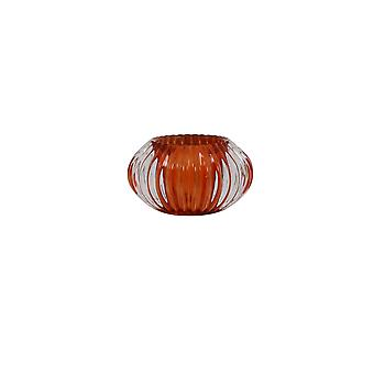 Light & Living Tealight Ø11x6,5 Cm PERTU Clear Glass+dark Orange