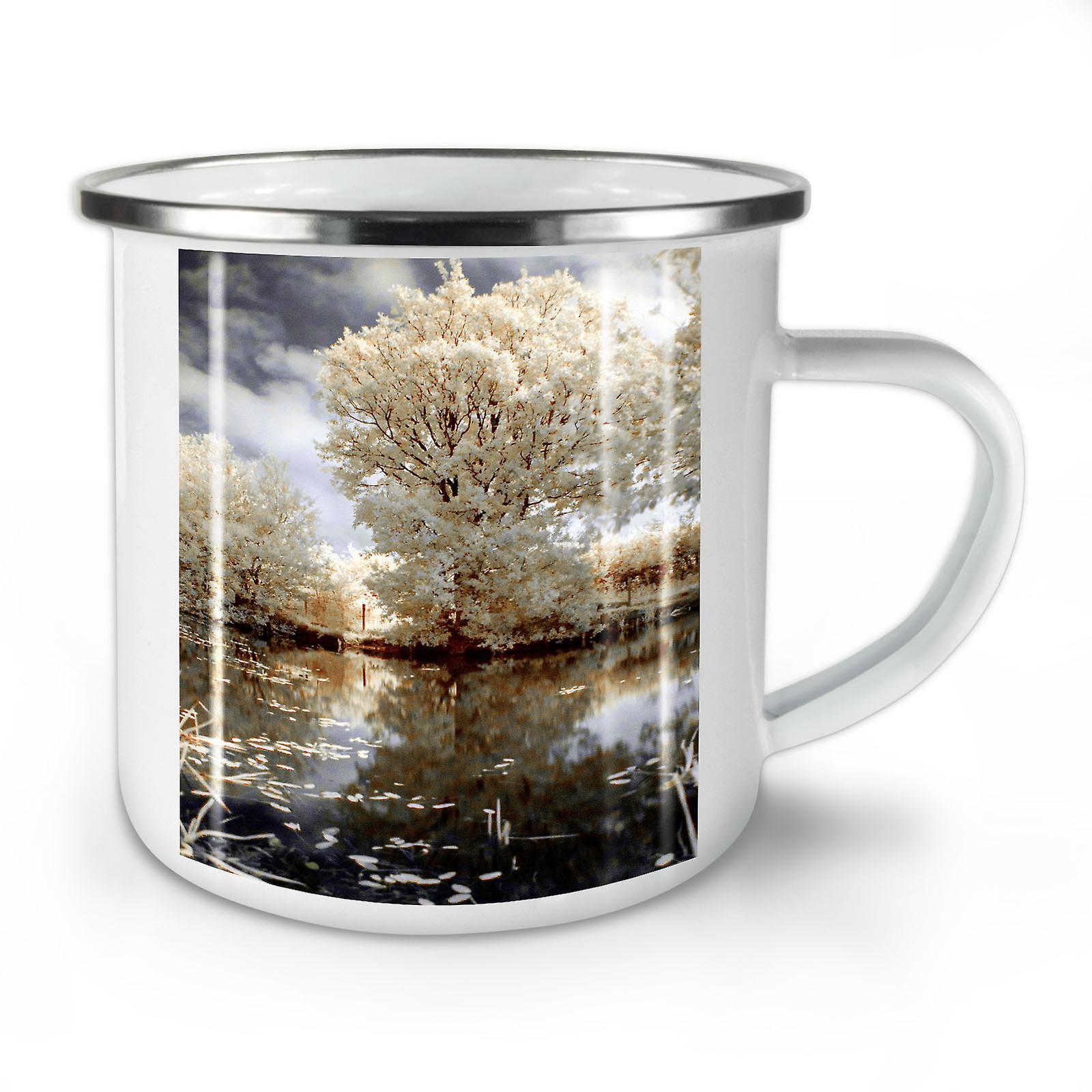 Mug10 Café OzWellcoda D'arbre Émail Lac Blanc Nature Nouveau Whitetea H2ED9I